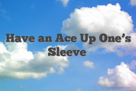 Have an Ace Up One's Sleeve