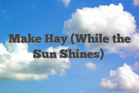 Make Hay (While the Sun Shines)
