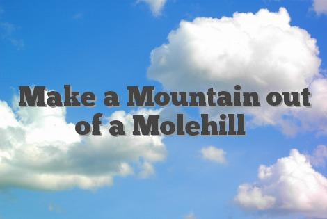 Make a Mountain out of a Molehill