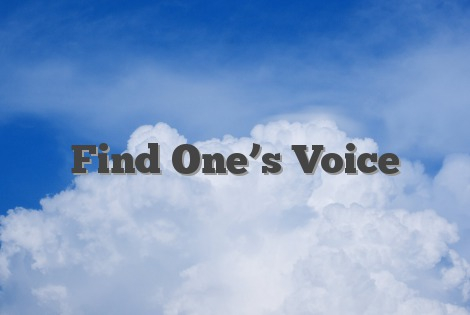 Find One's Voice