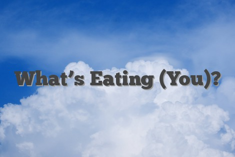 What's Eating (You)?