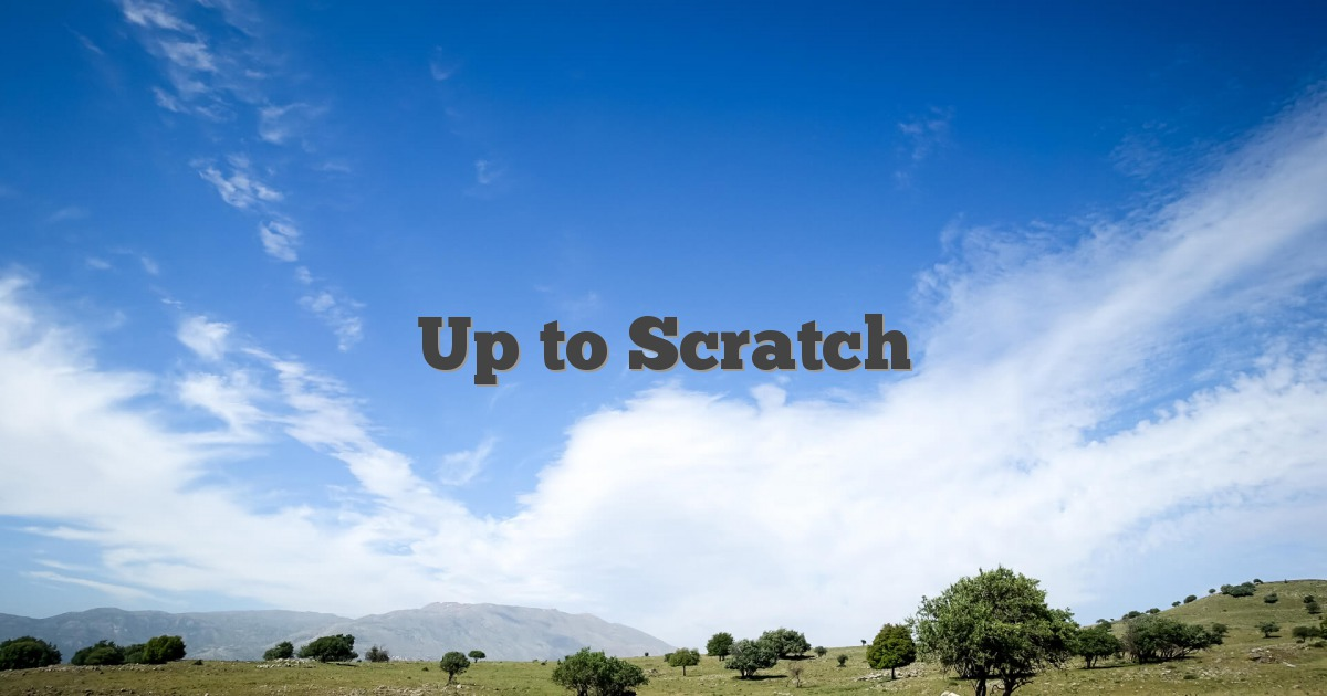 Up to Scratch