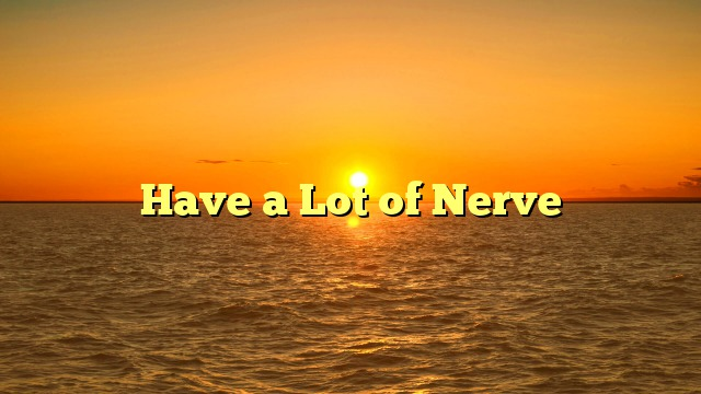 Have a Lot of Nerve